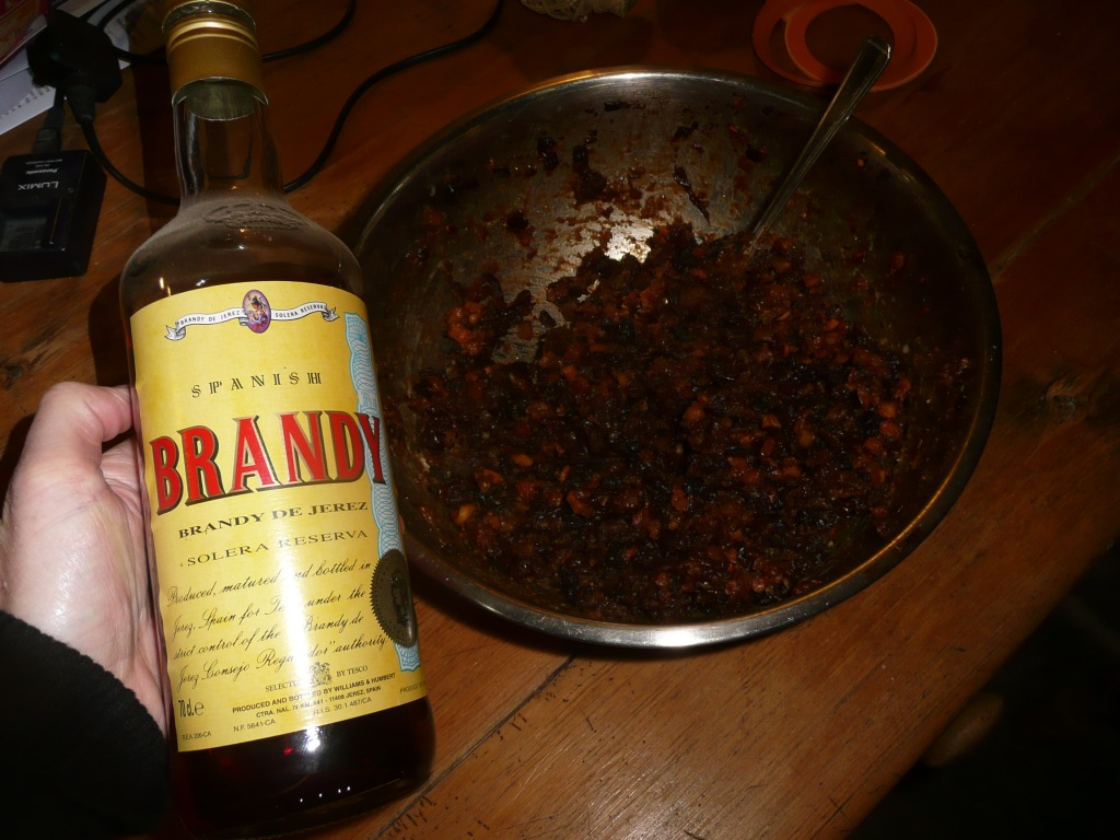 Mincemeat and Brandy Bottle  www.thinkingcowgirl.wordpress.com