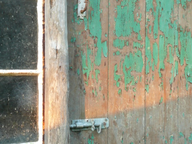 Flaking Green Paint www.thinkingcowgirl.wordpress.com
