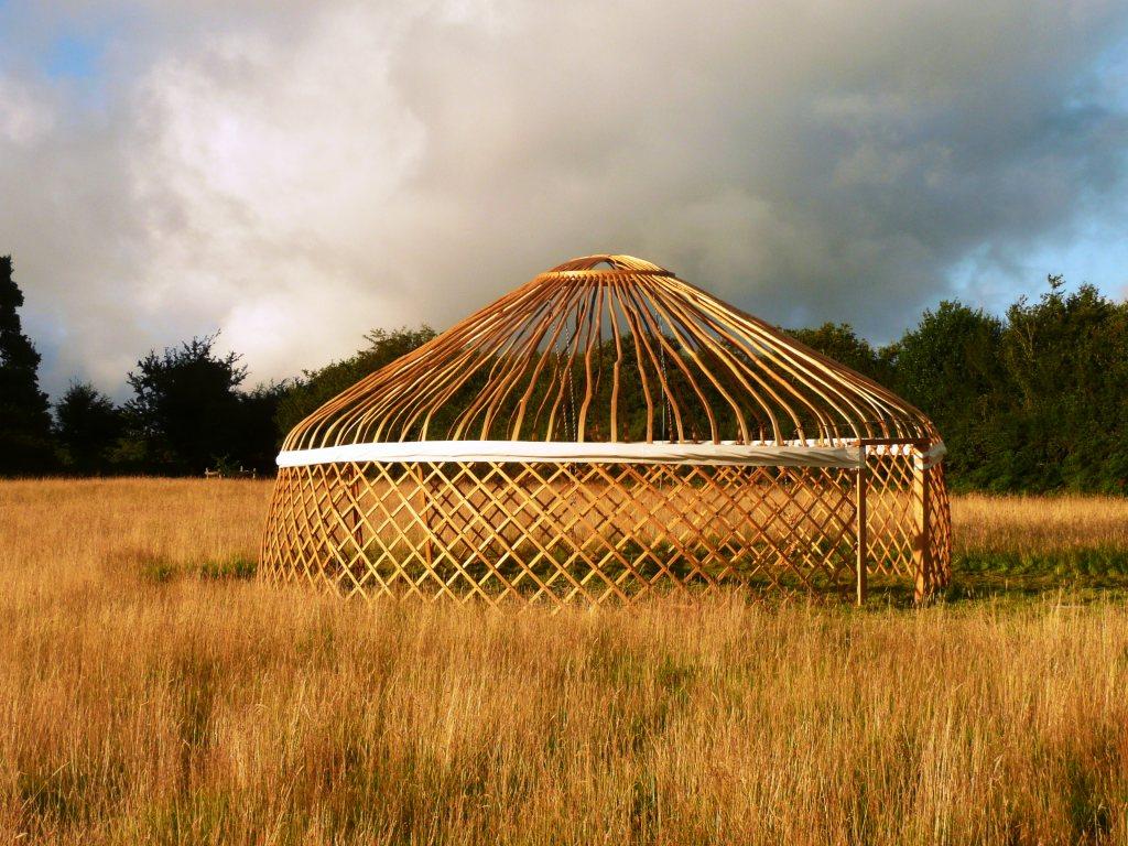 Yurt in Field www.thinkingcowgirl.wordpress.com