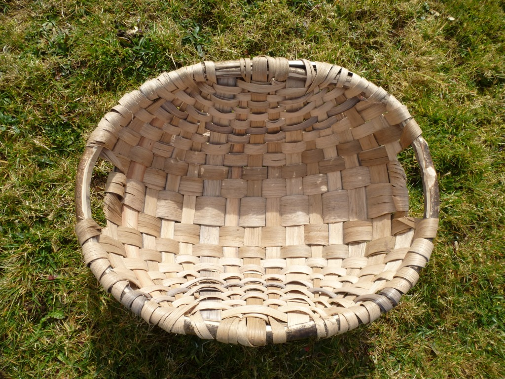 Oak Swill Basket www.thinkingcowgirl.wordpress.com