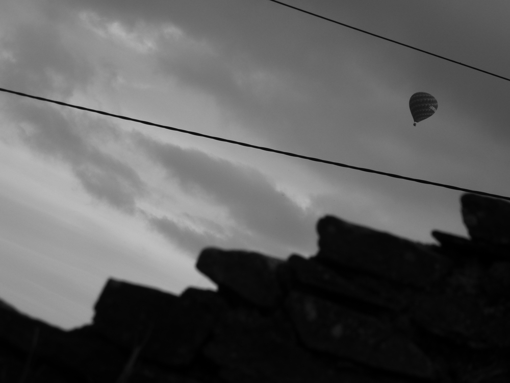 A balloon flying over
