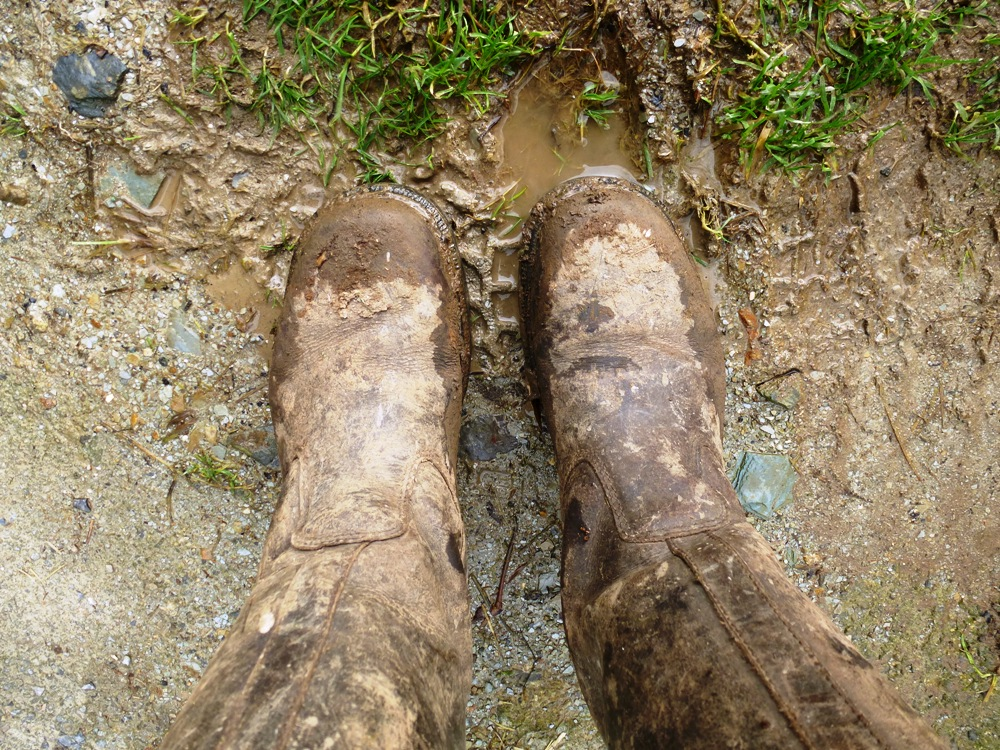 muddy boots www.thinkingcowgirl.wordpress.com